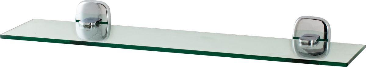 Полка для ванной Del Mare 1500, цвет: хром, 45 см531-105Стеклянная полка Del Mare 1500 произведена из безопасного, прочного и стойкого к коррозии металлического сплава, с многослойным никель-хромовым покрытием, стойким к истиранию. Внутренние элементы крепления после монтажа остаются скрытыми, сохраняя аккуратный и эстетичный вид изделия. Стеклянная полка - это удобная настенная подставка для хранения различной косметики, средств для умывания, мыльниц и других аксессуаров, что позволит организовать порядок в ванной комнате.
