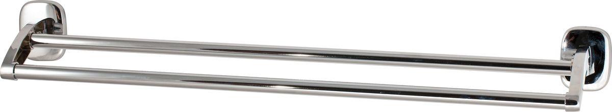 Полотенцедержатель Del Mare 1500, цвет: хром, 62 смS03301004Полотенцедержатель Del Mare 1500 — стильный и удобный аксессуар для ванной комнаты. Этот функциональный элемент декора имеет хромовое покрытие и отличается оригинальным внешним видом, устойчивостью к механическим повреждениям и коррозии, высоким сроком службы. Крепление к стене позволяет установить изделие в удобном для использования месте. Полотенце в таком держателе можно разместить одним движением руки — прочная штанга не даст ему упасть.