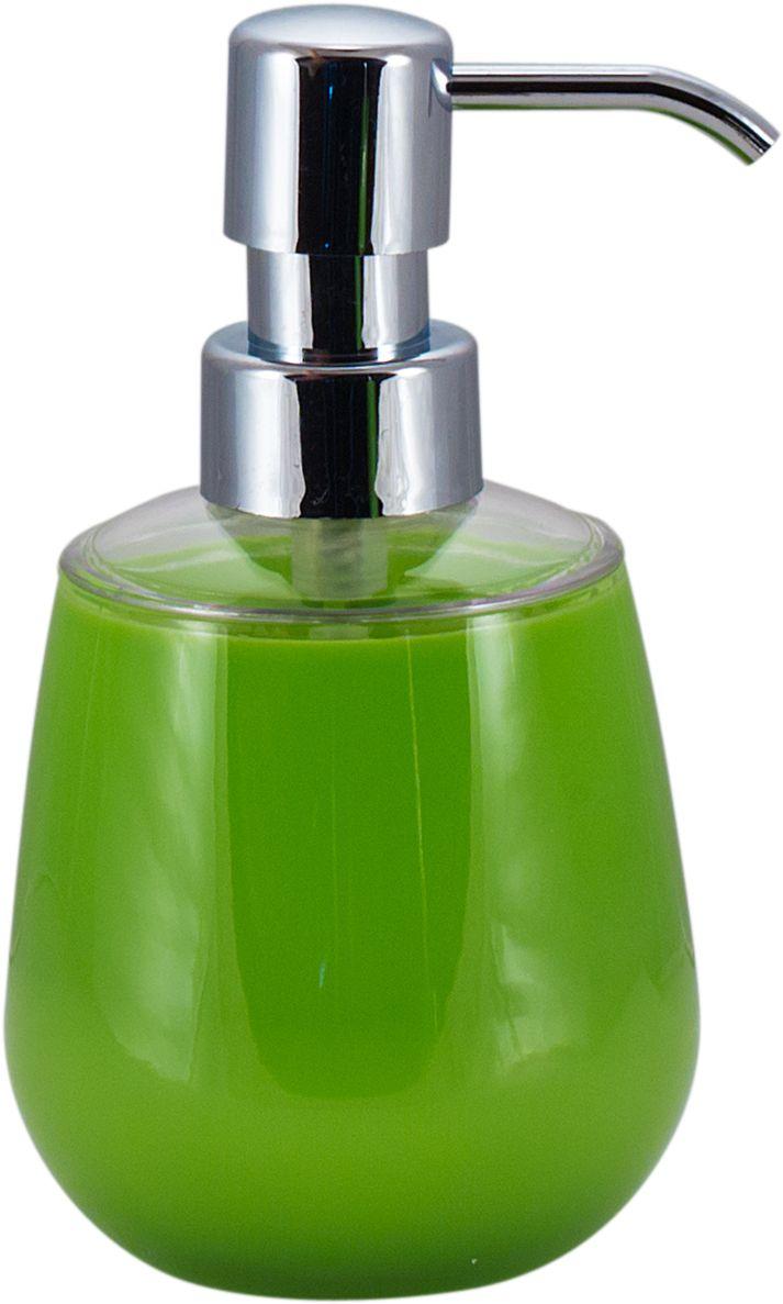 Дозатор для жидкого мыла Swensa Рондо, цвет: зеленый, 250 мл74-0120Дозатор для жидкого мыла Swensa Рондо — отличная альтернатива традиционной мыльнице. Сочетание емкости из акрила и хромированного носика выглядит просто, но, в то же время, стильно. Моющее средство (мыло или гель) выдается дозированно, а значит, существенно экономится. Благодаря компактному размеру, место для диспенсера найдется даже на небольшой полочке в ванной.