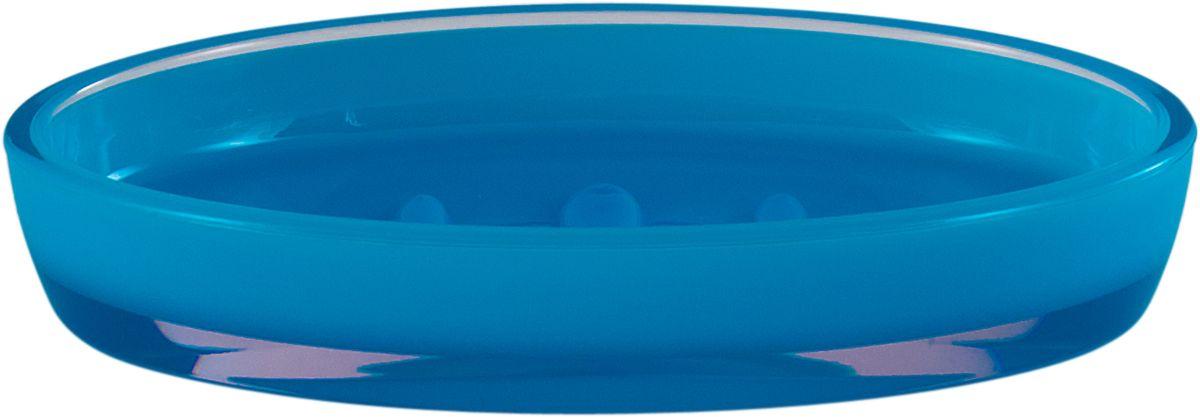 Мыльница Swensa Рондо, цвет: синий68/5/3Мыльница Swensa Рондо поможет внести свежую нотку в продуманный интерьер ванной комнаты. Ребристое дно препятствует выскальзыванию и размоканию бруска мыла, а благодаря компактным размерам и овальной форме аксессуар легко размещается на стеклянной полке, бортике ванны или уголке раковины. Влагостойкое покрытие обеспечивает надежную защиту от повышенной влажности и воздействия высоких температур, продлевая срок службы изделия.