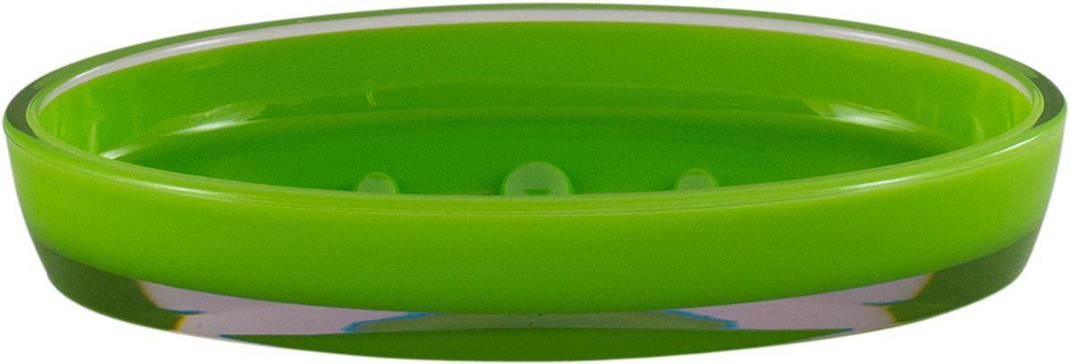 Мыльница Swensa Рондо, цвет: зеленый68/2/2Мыльница Swensa Рондо поможет внести свежую нотку в продуманный интерьер ванной комнаты. Ребристое дно препятствует выскальзыванию и размоканию бруска мыла, а благодаря компактным размерам и овальной форме аксессуар легко размещается на стеклянной полке, бортике ванны или уголке раковины. Влагостойкое покрытие обеспечивает надежную защиту от повышенной влажности и воздействия высоких температур, продлевая срок службы изделия.