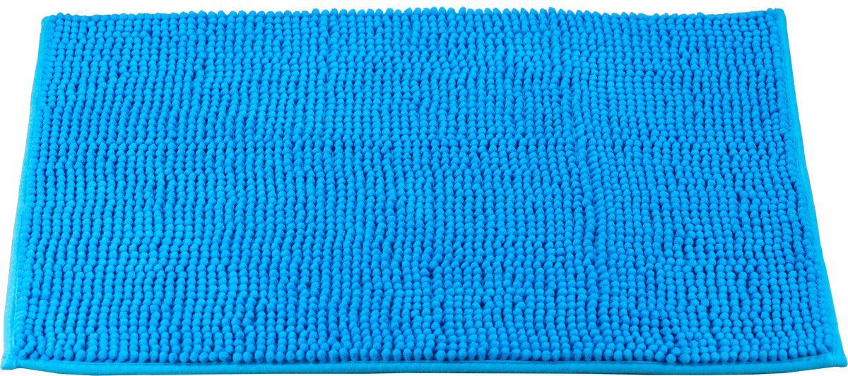 Коврик для ванной Swensa, цвет: синий, 45 х 70 смRG-D31SКоврик для ванной Swensa выполнен из полиэстера – современного и очень нежного на ощупь материала, обладающего рядом полезных свойств. Он не мнется, не теряет форму и легко чистится без специальной подготовки. Полиэстер не пропускает воду и быстро высыхает. При должном уходе он будет дарить уют и комфорт многие годы, не теряя отличного внешнего вида.