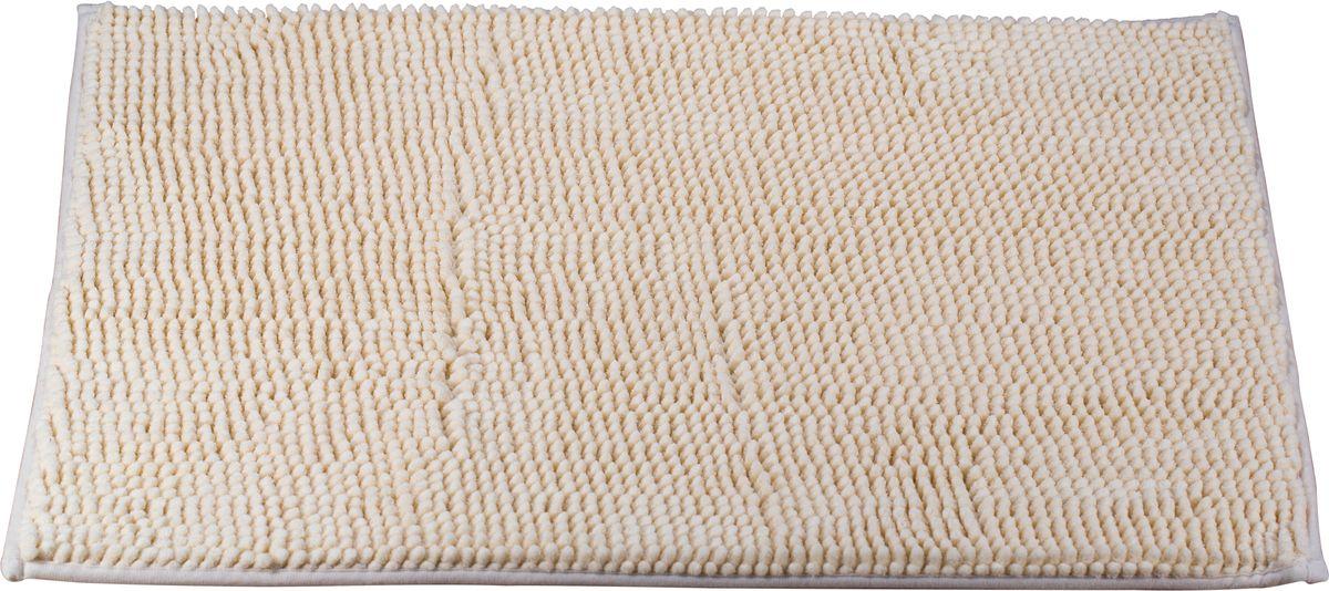 Коврик для ванной Swensa, цвет: ванильный, 45 х 70 см531-105Коврик для ванной Swensa выполнен из полиэстера – современного и очень нежного на ощупь материала, обладающего рядом полезных свойств. Он не мнется, не теряет форму и легко чистится без специальной подготовки. Полиэстер не пропускает воду и быстро высыхает. При должном уходе он будет дарить уют и комфорт многие годы, не теряя отличного внешнего вида.