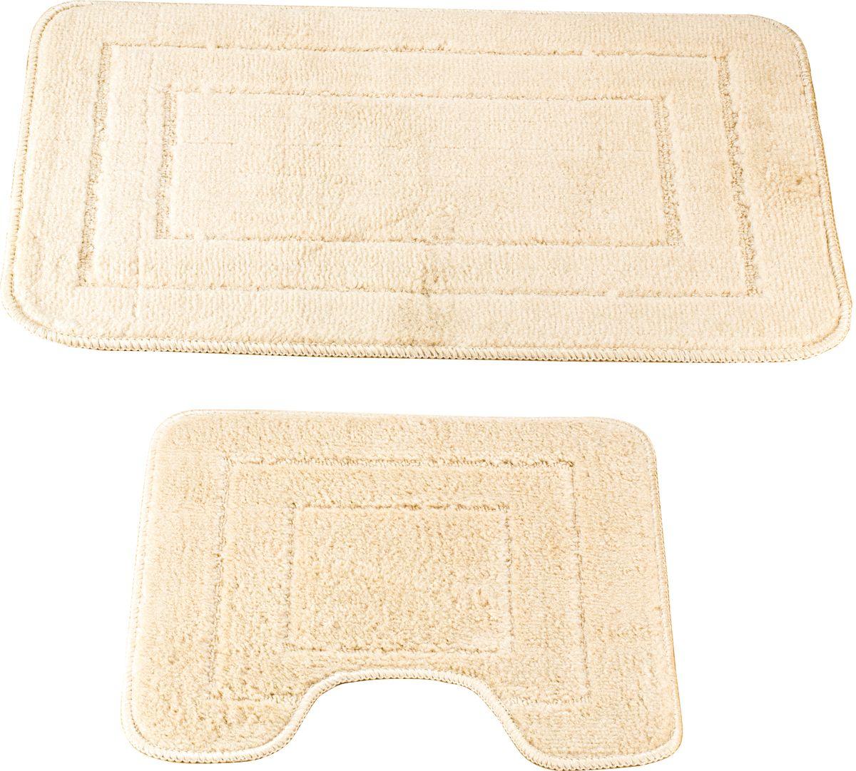 Набор ковриков для ванной Swensa Como, цвет: бежевый, 45 х 70 см, 45 х 45 см, 2 шт631/CHAR002Набор ковриков для ванной Swensa Como — аксессуар для ванной комнаты, сочетающий отличные эксплуатационные характеристики с привлекательной расцветкой. Изделие выполнено из гипоаллергенного и износостойкого полипропиленового волокна. Рельефный ворс различной длины обеспечивает приятные тактильные ощущения и легкий массажный эффект. Края обработаны оверлоком, что предохраняет коврик от разлохмачивания и деформации. Рекомендована деликатная машинная стирка.