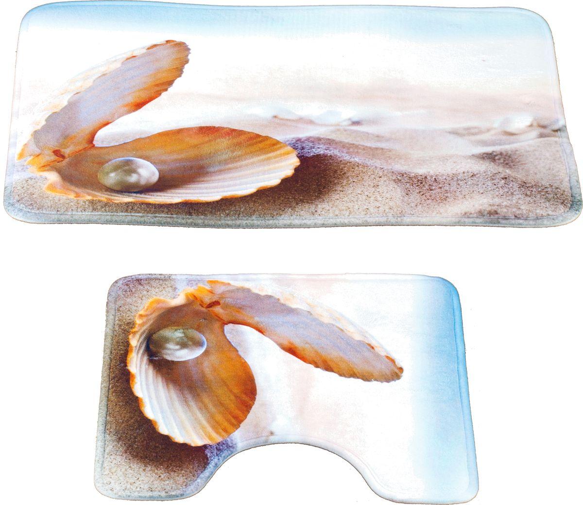 Набор ковриков для ванной Swensa Жемчужина, цвет: светло-бежевый, 40 х 60 см, 40 х 40 см, 2 шт631/CHAR012Набор ковриков для ванной Swensa Жемчужина способен наполнить ванную комнату атмосферой уюта и домашнего тепла. Микрофибра, из которой изготовлено изделие, отличается непревзойденной мягкостью, особой прочностью, гигроскопичностью. Такое сочетание качеств особенно ценно для текстиля, который планируется использовать в условиях повышенной влажности. Латексная основа предотвращает скольжение коврика на гладкой плитке.