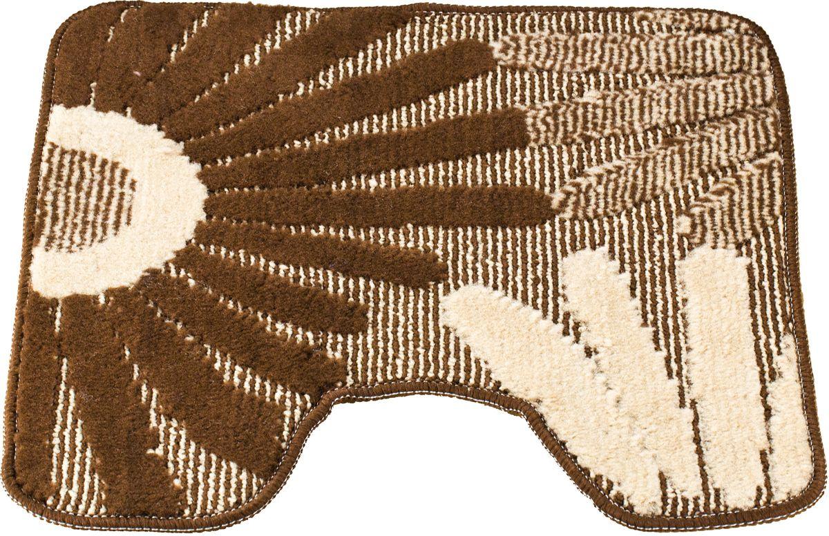 Коврик для туалета Swensa Fiori, цвет: коричневый, 50 х 50 смSWMT-1016-BROWNКоврик для туалета Swensa Fiori с рисунком в виде соцветий выполнен в нейтральной природной цветовой гамме, изготовлен из полипропилена – материала, устойчивого к истиранию, долговечного и не боящегося влаги. Изделие быстро сохнет, допускается машинная стирка. Нескользящая подложка обезопасит владельцев от случайных падений.