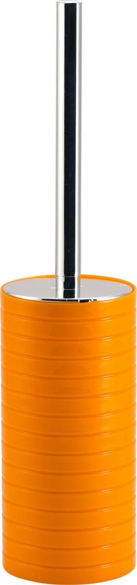 Ершик для унитаза Swensa Тренто, с подставкой, цвет: оранжевый68/5/1Напольный ерш Swensa Тренто способен стать не только функциональным предметом, но и украшением интерьера. Эргономичная блестящая рукоятка и специальная щетка с жёсткой щетиной позволяют быстро и эффективно справиться с поставленной задачей. После использования аксессуар легко моется и не впитывает запахи. Оригинальная подставка изготовлена из ударопрочного пластика и имеет запоминающийся дизайн.