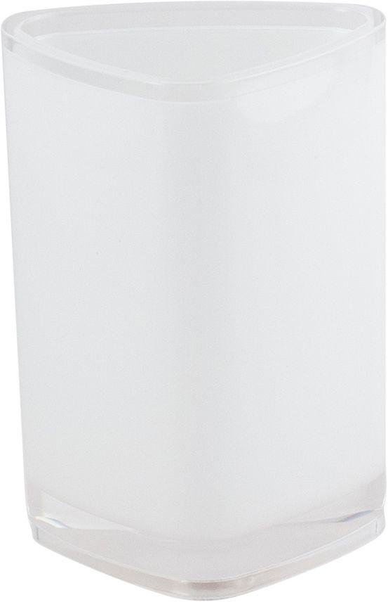 Стакан для ванной Swensa Нео, цвет: белый531-401Стакан Нео — практичный аксессуар для удобного хранения гигиенических принадлежностей. Изделие обращает на себя внимание выразительной формой, выдержанной в современном дизайне. Этот яркий аксессуар, дополненный иными изделиями из одноименной коллекции, станет модным акцентом в сдержанном интерьере ванной комнаты.