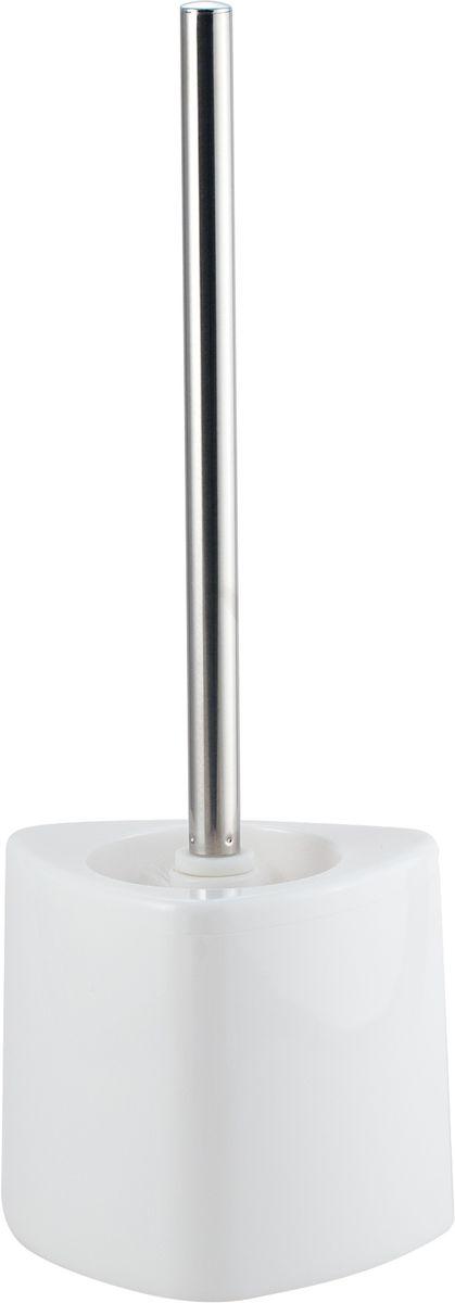 Ершик для унитаза Swensa Нео, с подставкой, цвет: белый282032_синийНапольный ерш Swensa Нео – гигиенический аксессуар высочайшего качества. Модель предназначена для поддержания санитарии и чистоты в туалетной комнате. Рукоятка ершика выполнена из прочного металла с хромированной поверхностью. Стаканчик изготовлен из прочного и практичного пластика, который легко поддается мытью.