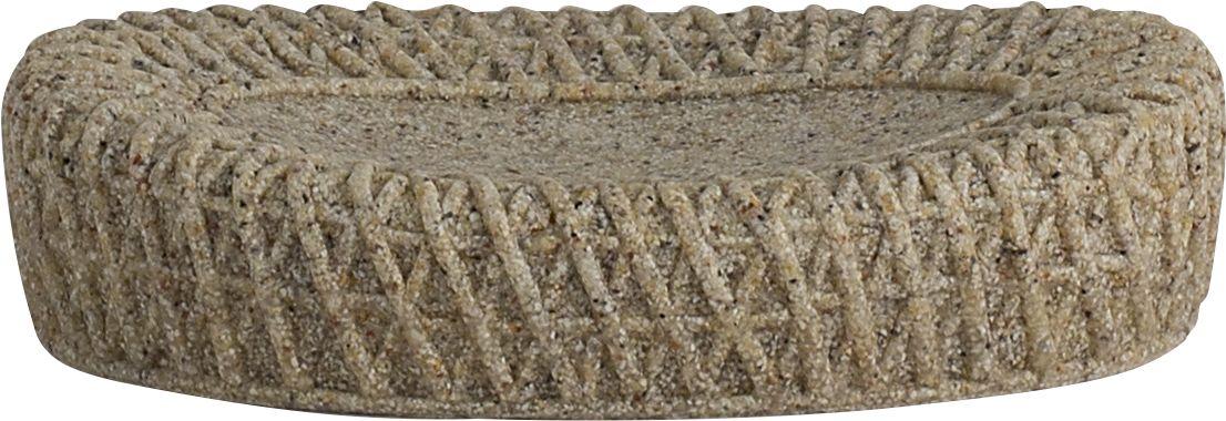 Мыльница Swensa Тиволи, цвет: светло-коричневый68/5/3Мыльница Swensa Тиволи входит в одноименную коллекцию аксессуаров, выдержанную в современной стилистике. Особую выразительность модели придает оригинальное дизайнерское решение: имитация фактуры крупной вязки. Полирезин, из которого выполнено изделие, отличают пластичность, ударопрочность, стойкость к влаге и горячему пару. Поверхность материала не имеет пор, поэтому исключает возможность образования плесени.