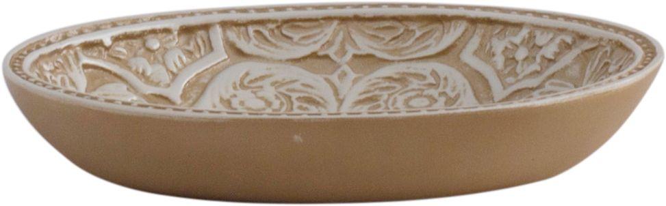 Мыльница Swensa Алора, цвет: светло-бежевыйSWT-4060DМыльница Swensa Алора— неотъемлемый атрибут стильной обстановки современной ванной комнаты. Этот практичный аксессуар изготовлен из полирезина, отличающегося износоустойчивостью, прочностью и водонепроницаемостью. Такие свойства позволяют успешно эксплуатировать мыльницу в помещении с повышенной влажностью и температурными перепадами. Внутренняя поверхность изделия украшена эффектным рельефным узором.