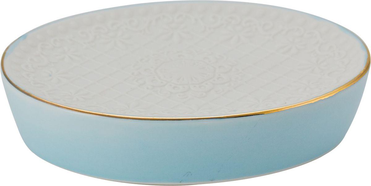 Мыльница Swensa Романс, цвет: белый, голубойBL505Мыльница из коллекции Swensa Романс прекрасно вписывается в интерьер ванной комнаты. Она отличается компактностью и простым, но стильным дизайном. Модель выполнена из керамики, что обеспечивает оптимальное соотношение массы и прочности. Изделие не боится воды, легко чистится и сушится. Мыльница прослужит долгие годы.