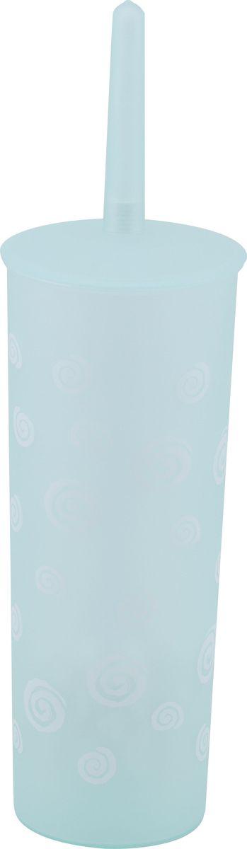 Ершик для унитаза Swensa Спираль, с подставкой, цвет: зеленыйES-412Ерш напольный Swensa Спираль, изготовленный из пластика, отлично подойдет для вашей туалетной комнаты.