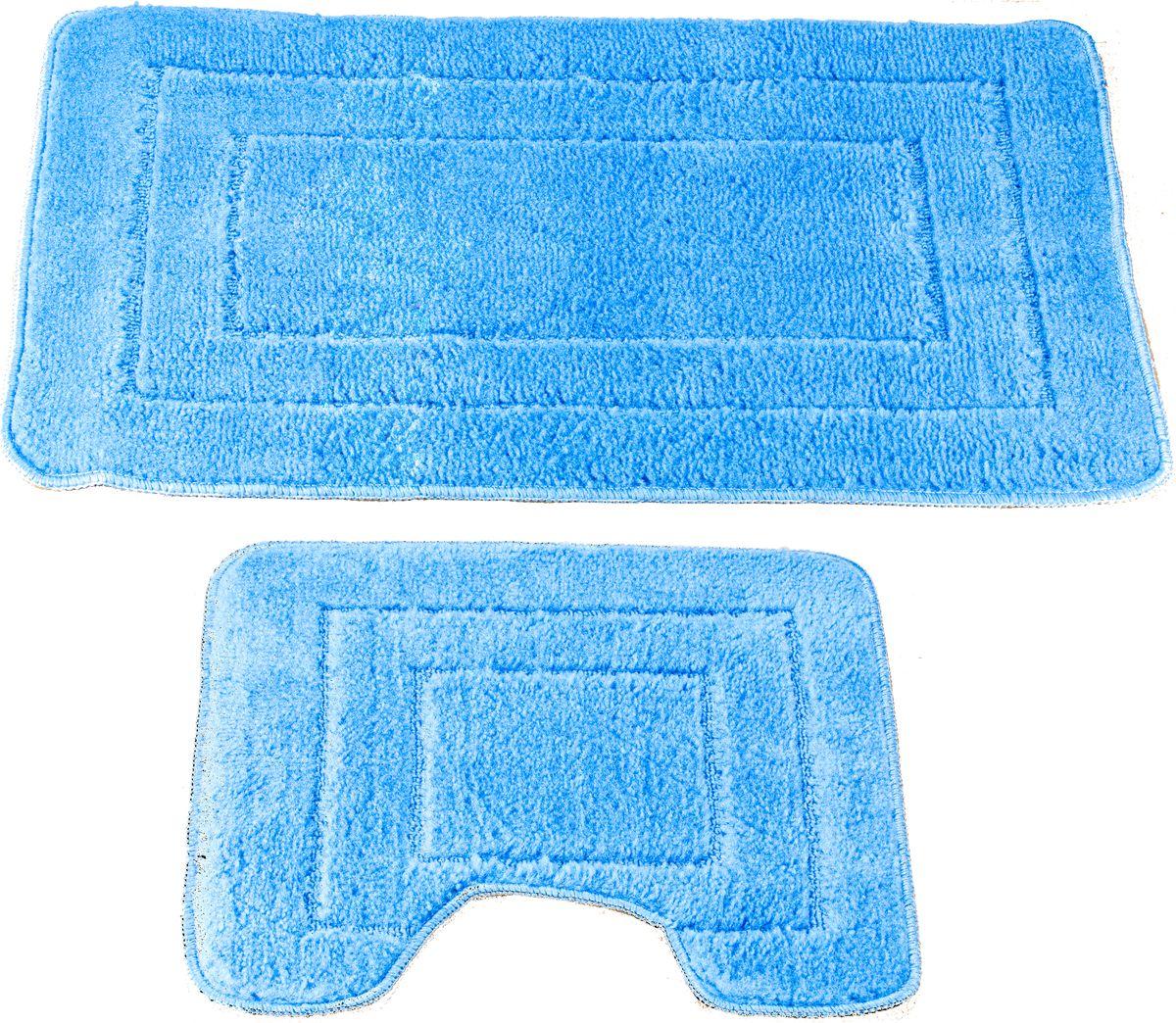 Набор ковриков для ванной Swensa Como, цвет: голубой, 45 х 70 см, 45 х 45 см, 2 штSWMS-1030-SKYНабор ковриков для ванной Swensa Como — аксессуар для ванной комнаты, сочетающий отличные эксплуатационные характеристики с привлекательной расцветкой. Изделие выполнено из гипоаллергенного и износостойкого полипропиленового волокна. Рельефный ворс различной длины обеспечивает приятные тактильные ощущения и легкий массажный эффект. Края обработаны оверлоком, что предохраняет коврик от разлохмачивания и деформации. Рекомендована деликатная машинная стирка.