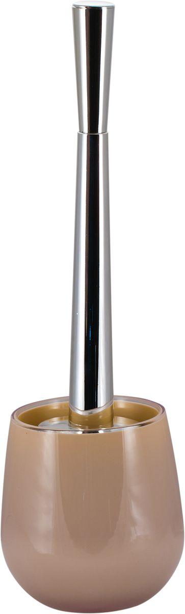 Ершик для унитаза Swensa Рондо, с подставкой, цвет: бежевый68/5/1Ерш для унитаза Swensa Рондо поможет в уборке и поддержании чистоты в санузлах и туалетных комнатах. Отличительная особенность представленной модели – различные вариации расцветки. Это позволяет подобрать наиболее подходящий к дизайну интерьера аксессуар. Представленное изделие оснащено подставкой из акрила, которая является прочным и надежным материалом, обеспечивающим долговечность и защиту от нежелательных повреждений. Ерш для унитаза станет незаменимым элементом в оснащении туалетной комнаты.