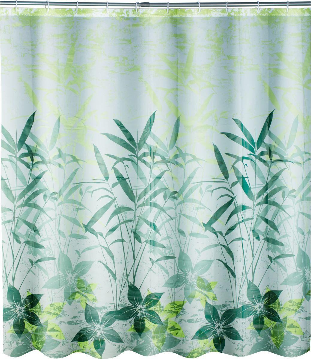Штора для ванной Swensa Grass, цвет: зеленый, 180 х 180 см391602Штора выполненна из такого материала как ПЕВА и EVA (вспененный этиленвинилацетат) и оформлена оригинальным рисунком. Она надежно защитит от брызг и капель пространство вашей ванной комнаты в то время, пока вы принимаете душ. В верхней кромке шторы предусмотрены отверстия для пластиковых колец, которые входят в комплект.Количество колец: 12 шт.
