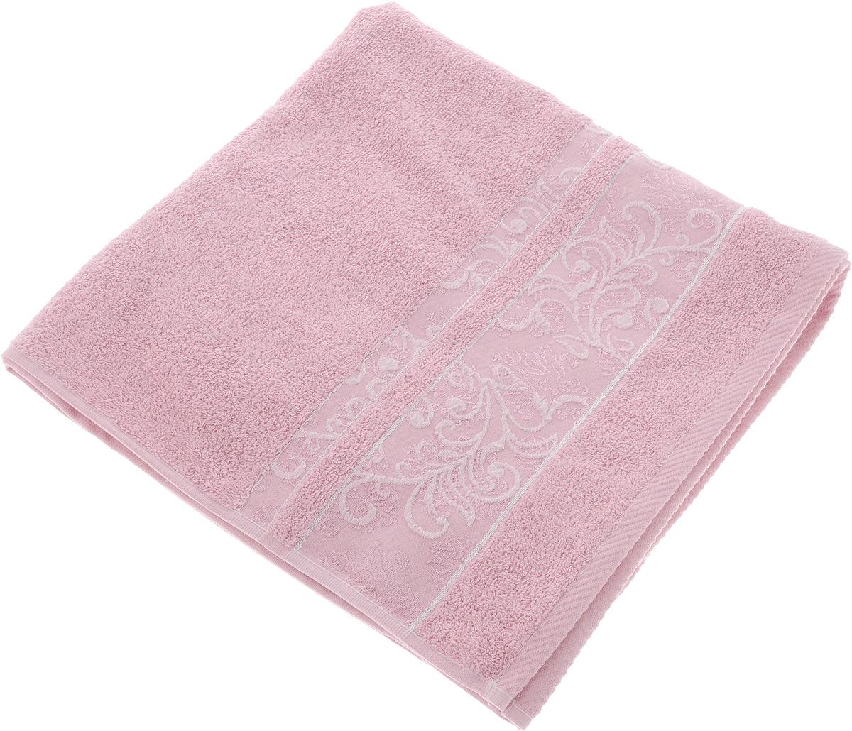 Полотенце Brielle Sarmasik, цвет: розовый, 70 х 140 см68/5/3Полотенце Brielle Sarmasik выполнено из натурального хлопка.Изделие очень мягкое, оно отлично впитывает влагу, быстро сохнет, сохраняет яркость цвета и не теряет формы даже после многократных стирок. Модель оформлена узором. Полотенце Brielle Sarmasik очень практично и неприхотливо в уходе. Такое полотенце послужит приятным подарком.