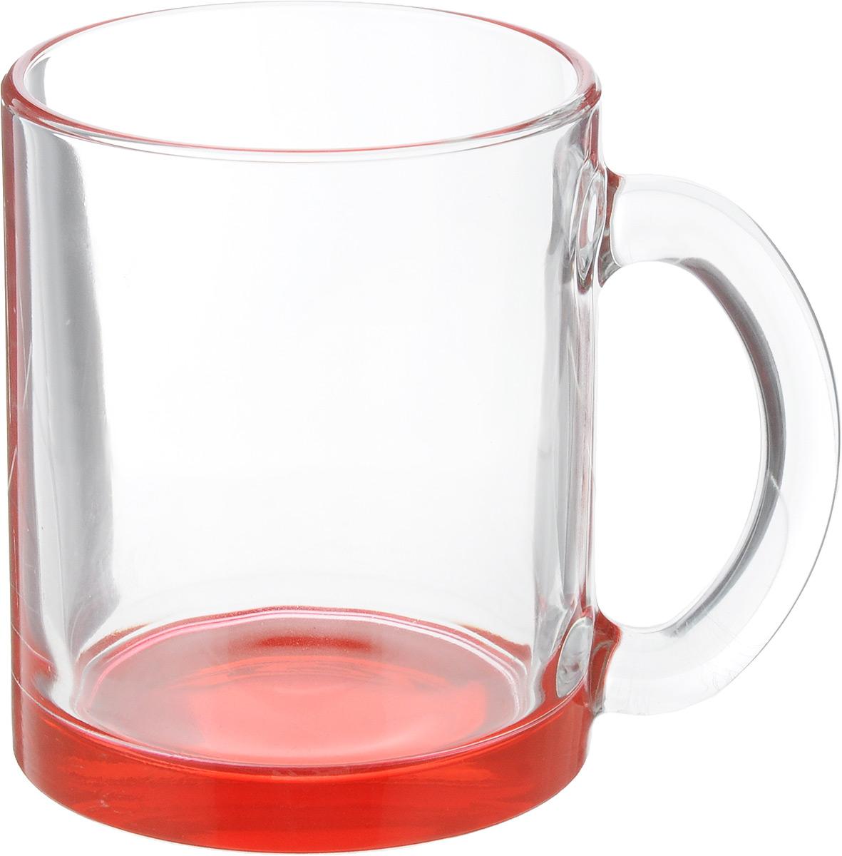 Кружка OSZ Чайная, цвет: прозрачный, красный, 320 мл391602Кружка OSZ Чайная изготовлена из стекла двух цветов. Изделие идеально подходит для сервировки стола.Кружка не только украсит ваш кухонный стол, но и подчеркнет прекрасный вкус хозяйки. Диаметр кружки (по верхнему краю): 8 см. Высота кружки: 9,5 см. Объем кружки: 320 мл.