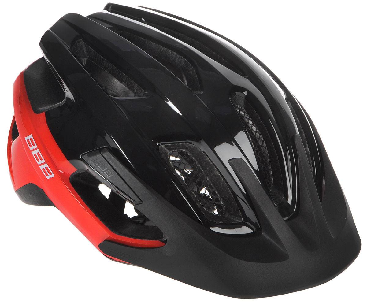 Шлем летний BBB Kite, со съемным козырьком, цвет: черный, красный. Размер MRivaCase 8460 blackШлем BBB Kite, предназначенный для велосипедистов, скейтбордистов и роллеров, снабжен настраиваемыми ремешками для максимально комфортной посадки. Система TwistClose - позволяет настроить шлем одной рукой. Увеличенное количество вентиляционных отверстий гарантирует отличную циркуляцию воздуха на разных скоростях движения при сохранении жесткости, а отверстия для вентиляции в задней части шлема предназначены для оптимального распределения потока воздуха. Шлем оснащен съемными мягкими накладками с антибактериальными свойствами и съемным козырьком. Внутренняя часть изделия изготовлена из пенополистирола. Ее роль заключается в рассеивании энергии при ударе, а низкопрофильная конструкция обеспечивает дополнительную защиту наиболее уязвимых участков головы. Фронтальные отверстия изделия прикрыты мелкой сеткой для защиты от насекомых. Верхняя часть шлема, выполненная из прочного пластика, препятствует разрушению изделия, защищает его от прокола и позволять ему скользить при ударах. Шлем имеет светоотражающие наклейки и 14 вентиляционных отверстий, которые делают катание максимально комфортным.Размер: M. Обхват головы: 53-58 см.