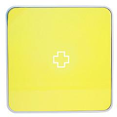 Подвесной органайзер для лекарств Byline, цвет: желтый. 108.3252.5625051 7_желтыйНастенная аптечка - изготовлена из прочного пластика высокого качества, позволяющего эксплуатировать изделие на протяжение весьма существенного периода. Уникальность аптечке придает матовая дверца яркого цвета с удобной ручкой.