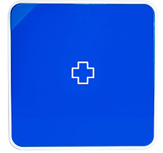Подвесной органайзер для лекарств Byline, цвет: синий. 108.3252.54BH-UN0502( R)Настенная аптечка - изготовлена из прочного пластика высокого качества, позволяющего эксплуатировать изделие на протяжение весьма существенного периода. Уникальность аптечке придает матовая дверца яркого цвета с удобной ручкой.