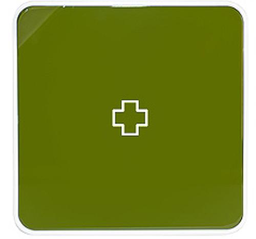 Подвесной органайзер для лекарств Byline, цвет: зеленый. 108.3252.53CLP446Настенная аптечка - изготовлена из прочного пластика высокого качества, позволяющего эксплуатировать изделие на протяжение весьма существенного периода. Уникальность аптечке придает матовая дверца яркого цвета с удобной ручкой.