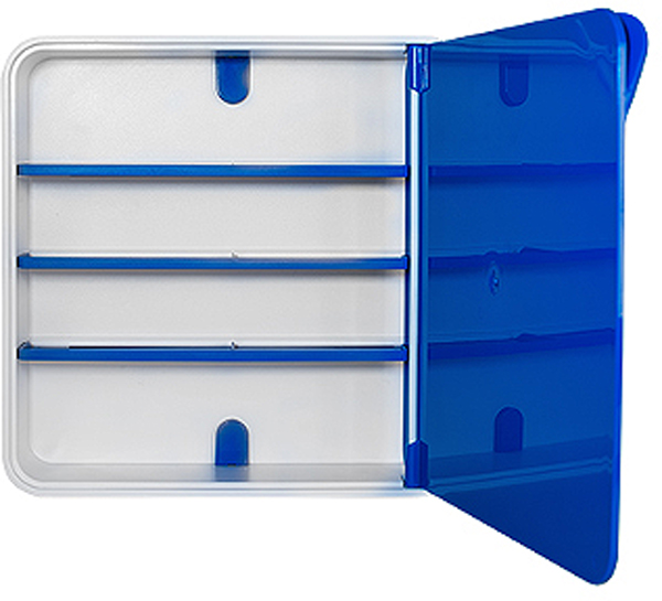 Подвесной органайзер для лекарств Byline, цвет: синий. 108.3202.04CLP446Настенная аптечка - изготовлена из прочного пластика высокого качества, позволяющего эксплуатировать изделие на протяжение весьма существенного периода. Уникальность аптечке придает глянцевая дверца яркого цвета с удобной ручкой.
