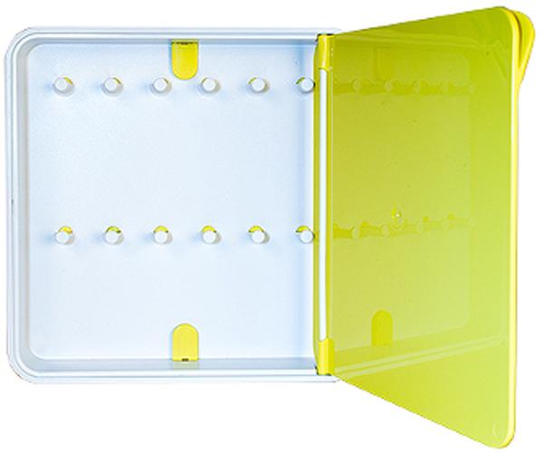 Ключница настенная Byline, цвет: желтый. 108.3201.0654 009303Настенные ключницы - созданы как удобные органайзеры для хранения и контроля за комплектами ключей. Больше не надо думать, куда положить ключи от квартиры или дома, машины, почтового ящика, кладовки.