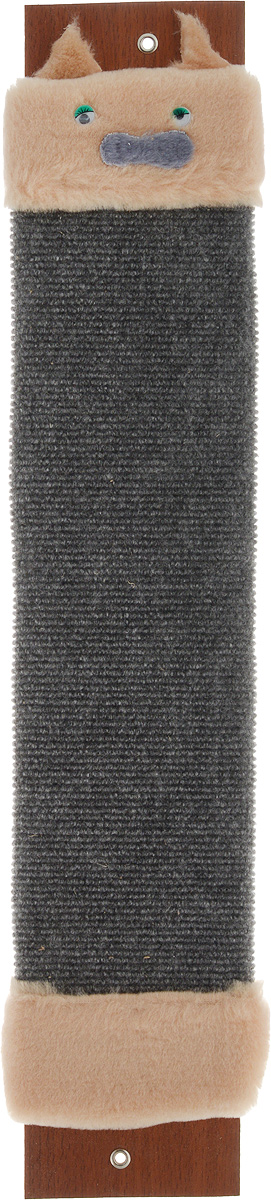 Когтеточка Adel-Pet Мордашка, с пропиткой, ковровая, длина 59 см40945Когтеточка Adel-Pet Мордашка поможет сохранить мебель и ковры в доме от когтей вашего любимца, стремящегося удовлетворить свою естественную потребность точить когти. Когтеточка изготовлена из ДСП, синтетики и ковролина. На когтеточке имеются 2 отверстия для крепления к стене. Товар продуман в мельчайших деталях и, несомненно, понравится вашей кошке. Всем кошкам необходимо стачивать когти. Когтеточка - один из самых необходимых аксессуаров для кошки. Для легкого приучения питомца изделиеобработано привлекающей пропиткой и мордашкой