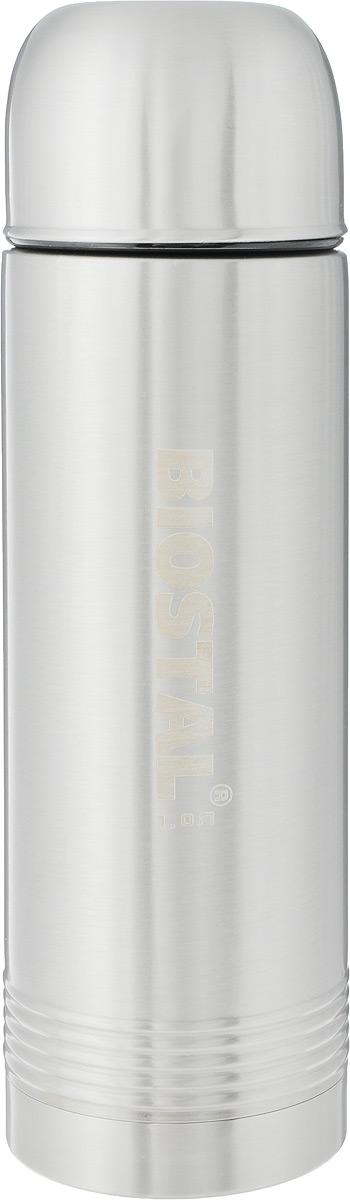 Термос Biostal Охота, цвет: стальной, 1 л. NYP-1000336-10250 АТермос с узким горлом Biostal Охота, изготовленный из высококачественной нержавеющей стали, относится к серии Охота. Термосы этой серии пользуются большой популярностью у любителей охоты и рыбалки, так как они, сохраняя прочность и термоустойчивость, легки и компактны. Термос предназначен для горячих и холодных напитков и укомплектован двумя пробками: пробка без клапана надежна, проста в использовании и позволяет дольше сохранять тепло, благодаря дополнительной теплоизоляции. Пробка с клапаном удобна в использовании и позволяет, не отвинчивая ее, а наливать напитки после простого нажатия. Изделие также оснащено крышкой-чашкой. Легкий и прочный термос Biostal Охота сохранит ваши напитки горячими или холодными надолго.Высота термоса (с учетом крышки): 30 см. Диаметр дна: 9 см. Диаметр крышки-чашки (по верхнему краю): 8 см.