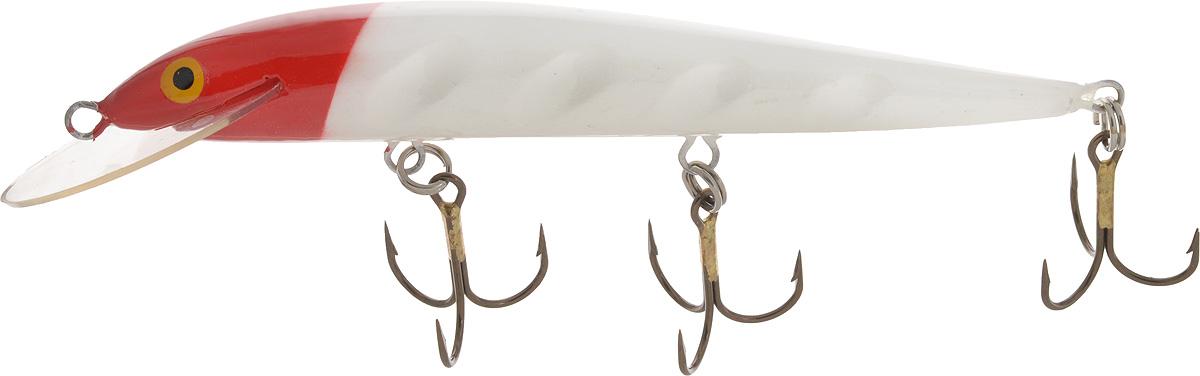 Воблер Blind Paroni, цвет: красный, белый, длина 13 см, вес 17 г010-01199-23Воблер Blind Paroni применяется для ловли хищных видов рыб. Воблер изготовлен из качественного пластика и отличается яркой расцветкой. Три тройника не дадут ускользнуть самой верткой рыбе.