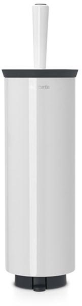 Туалетный ершик Brabantia, с держателем. 48332568/5/1Туалетный ершик с держателем Brabantia 427169 крепится к стене с помощью прилагаемого кронштейна, благодаря чему не занимает место на полу и облегчает уборку в ванной комнате.Легко вынимается из настенного крепления для тщательной очистки стене позади держателя.Также может быть использован без кронштейна - на полу ванной комнаты.Нескользящее основание предотвращает скольжение по плитке.Благодаря особой форме щетки унитаз тщательно и легко чистится даже под ободком!Ершик снабжен крышкой, что придает аксессуару всегда аккуратный вид.Съемное внутреннее ведро легко чистится. Изготовлен из коррозионностойких материалов.Сочетается с другими аксессуарами Brabantia для ванной комнаты: настенным или напольным мусорными баками, держателем для туалетной бумаги, мыльницей, держателем для стаканов, полочкой для ванной комнаты, крючками и держателями для полотенца. Гарантия 10 лет.