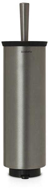 Туалетный ершик Brabantia, с держателем. 48330168/5/1Туалетный ершик с держателем Brabantia 427169 крепится к стене с помощью прилагаемого кронштейна, благодаря чему не занимает место на полу и облегчает уборку в ванной комнате.Легко вынимается из настенного крепления для тщательной очистки стене позади держателя.Также может быть использован без кронштейна - на полу ванной комнаты.Нескользящее основание предотвращает скольжение по плитке.Благодаря особой форме щетки унитаз тщательно и легко чистится даже под ободком!Ершик снабжен крышкой, что придает аксессуару всегда аккуратный вид.Съемное внутреннее ведро легко чистится. Изготовлен из коррозионностойких материалов.Сочетается с другими аксессуарами Brabantia для ванной комнаты: настенным или напольным мусорными баками, держателем для туалетной бумаги, мыльницей, держателем для стаканов, полочкой для ванной комнаты, крючками и держателями для полотенца. Гарантия 10 лет.