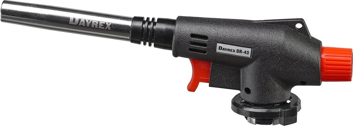 Горелка газовая FOCUSray Dayrex-43 1/10/50DAYREX-43Универсальная газовая горелка. Электронное воспламенение. Температура открытого пламени — 1300°С.Длина открытого пламени — 198 мм. Расход газа - 1,72 г./мин.