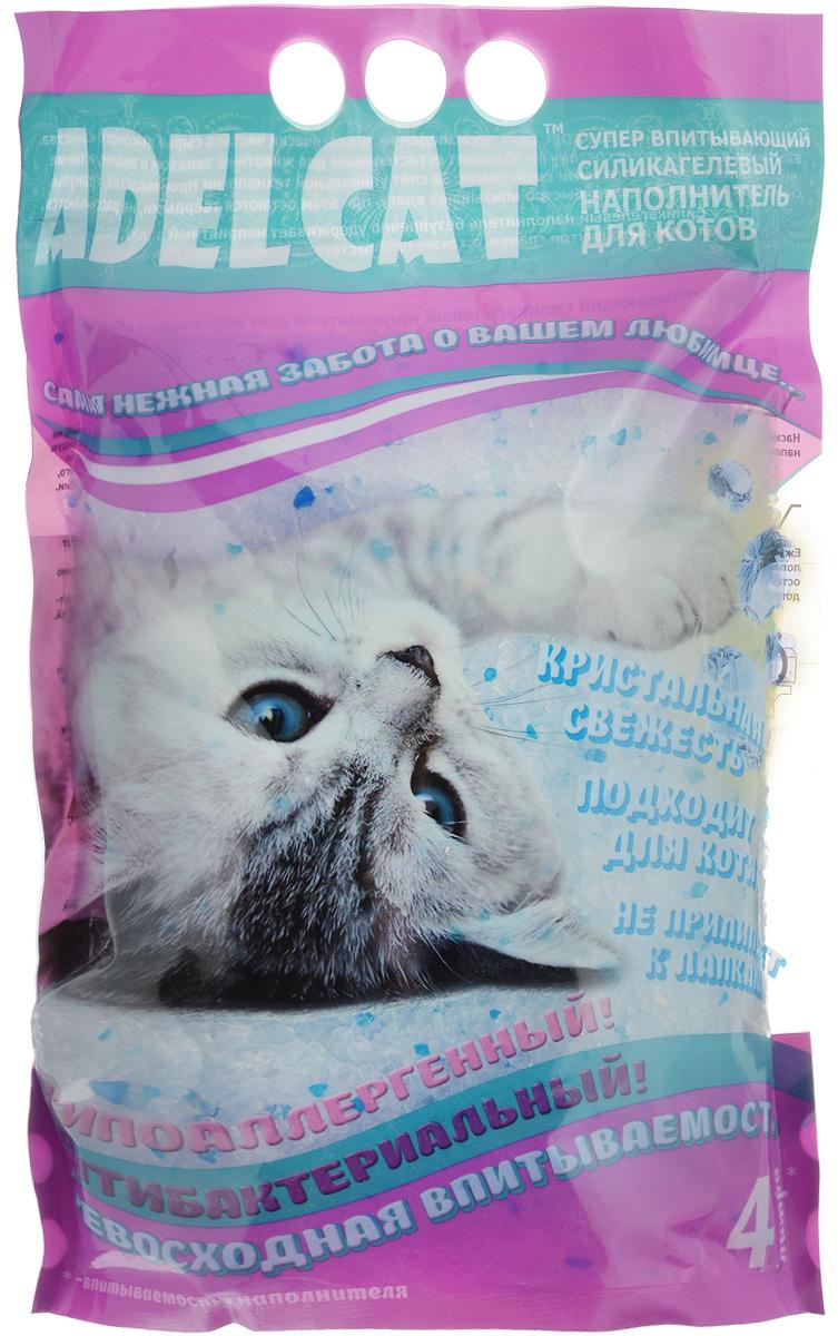 Наполнитель для котов Adel Cat, силикагелевый, с голубыми гранулами, 4 л0120710Силикагелевый наполнитель для котов Adel Cat произведен из экологически чистого сырья высокого качества. Безопасен для человека и животного, не вызывает аллергии. Благодаря натуральному составу он обладает естественным для животных запахом и видом, а также природными антисептическими свойствами. За счет уникальной технологии производства, гранулы силикагеля сверхбыстро впитывают влагу, при этом остаются твердыми и не рассыпаются. Силикагелевый наполнитель безупречно удерживает неприятный запах, блокирует его внутри гранул, а также препятствует размножению бактерий. Наполнитель прост в применении благодаря тому, что не образует комков, не содержит пыль, не прилипает к шерсти и лапкам животного. Подходит для котят. Наполнитель имеет гранулы голубого цвета.