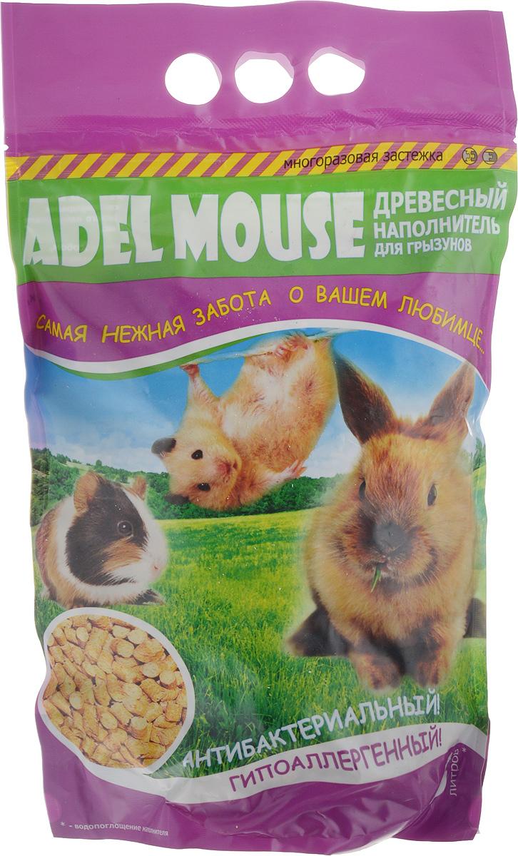 Наполнитель для грызунов Adel Mouse, древесный, 5 л0120710Древесный наполнитель для грызунов Adel Mouse произведен из экологически чистого сырья высокого качества. Благодаря натуральному составу он обладает естественным для грызунов запахом и видом, а также природными антисептическими свойствами. За счет уникальной технологии производства, гранулы древесного наполнителя впитывают влаги в 3 раза больше, чем их собственный вес. Наполнитель безупречно удерживает неприятные запахи естественным способом, препятствует размножению бактерий, а также является гипоаллергенным. Предназначен для кроликов, морских свинок, шиншилл, хомяков, крыс, мышей и птиц. Преимущества: - экономичный, - эффективно поглощает влагу, - антибактериальный, - 100% натуральный, экологически чистый продукт (100% древесина), - диаметр гранул 6 мм, - гипоаллергенный. Одна упаковка наполнителя рассчитана на поглощение влаги не менее 5 литров.