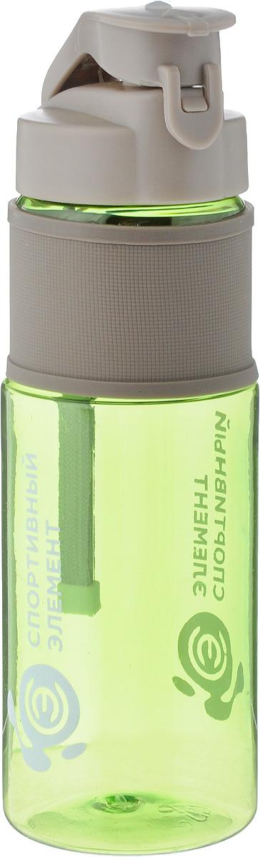 Бутылка для воды Спортивный элемент  Аквамарин , цвет: прозрачный зеленый, 450 мл - Шейкеры