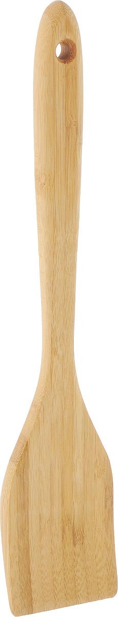 Лопатка кулинарная Kesper, длина 30 см5101-5Кулинарная лопатка Kesper, изготовленная из бамбука, не царапает поверхность посуды и не проводит тепло, что делает ее идеальной для перемешивания горячих продуктов. Удобная ручка не позволит выскользнуть лопатке из вашей руки. Практичная и удобная лопатка Kesper займет достойное место среди аксессуаров на вашей кухне. Нельзя мыть в посудомоечной машине. Длина лопатки: 30 см.Размер рабочей части: 11 х 6 см.