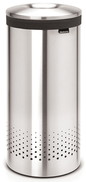 Бак для белья Brabantia, 35 л. 10512874-006035-литровый бак для белья Brabantia выполнен из стойких к коррозии материалов и идеально подходит для влажных помещений. Благодаря классическому дизайну бак легко впишется в интерьер Вашей ванной комнаты!Изготовлен из коррозионностойких материалов (нержавеющая сталь и пластик).Металлическая крышка с отверстием, которое позволяет положить мелкие предметы в бак, не открывая крышку.Пластиковое защитное кольцо предотвращает повреждение пола. Вентиляционные отверстия на корпусе позволяют содержимому бака дышать, что позволяет избежать появления неприятного запаха. Съемный мешок для белья легко менять. Благодаря прорезиненным краям мешок не соскальзывает в корзину. В комплект входит съемный моющийся мешок для белья. •Гарантия 10 лет.