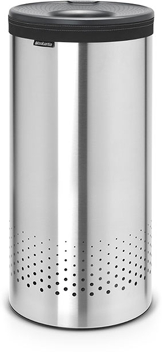 Бак для белья Brabantia, 35 л. 103469531-10535-литровый бак для белья Brabantia выполнен из стойких к коррозии материалов и идеально подходит для влажных помещений. Благодаря классическому дизайну бак легко впишется в интерьер Вашей ванной комнаты!Изготовлен из коррозионностойких материалов (нержавеющая сталь и пластик).Металлическая крышка с отверстием, которое позволяет положить мелкие предметы в бак, не открывая крышку.Пластиковое защитное кольцо предотвращает повреждение пола. Вентиляционные отверстия на корпусе позволяют содержимому бака дышать, что позволяет избежать появления неприятного запаха. Съемный мешок для белья легко менять. Благодаря прорезиненным краям мешок не соскальзывает в корзину. В комплект входит съемный моющийся мешок для белья. •Гарантия 10 лет.