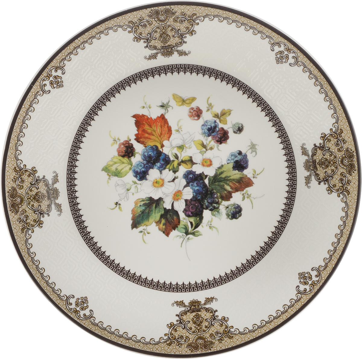 Тарелка Lillo, диаметр 20 см. 1002А-АТМ115510Тарелка Lillo изготовлена из качественной глазурованной керамики. Изделие декорировано красивым рисунком в виде узоров и цветов. Такая тарелка отлично подойдет в качестве блюда для сервировки закусок и нарезок, ее также можно использовать как обеденную. Яркий запоминающийся дизайн и качество исполнения сделают ее отличным подарком. Не рекомендуется использовать в микроволновой печи и мыть в посудомоечной машине.