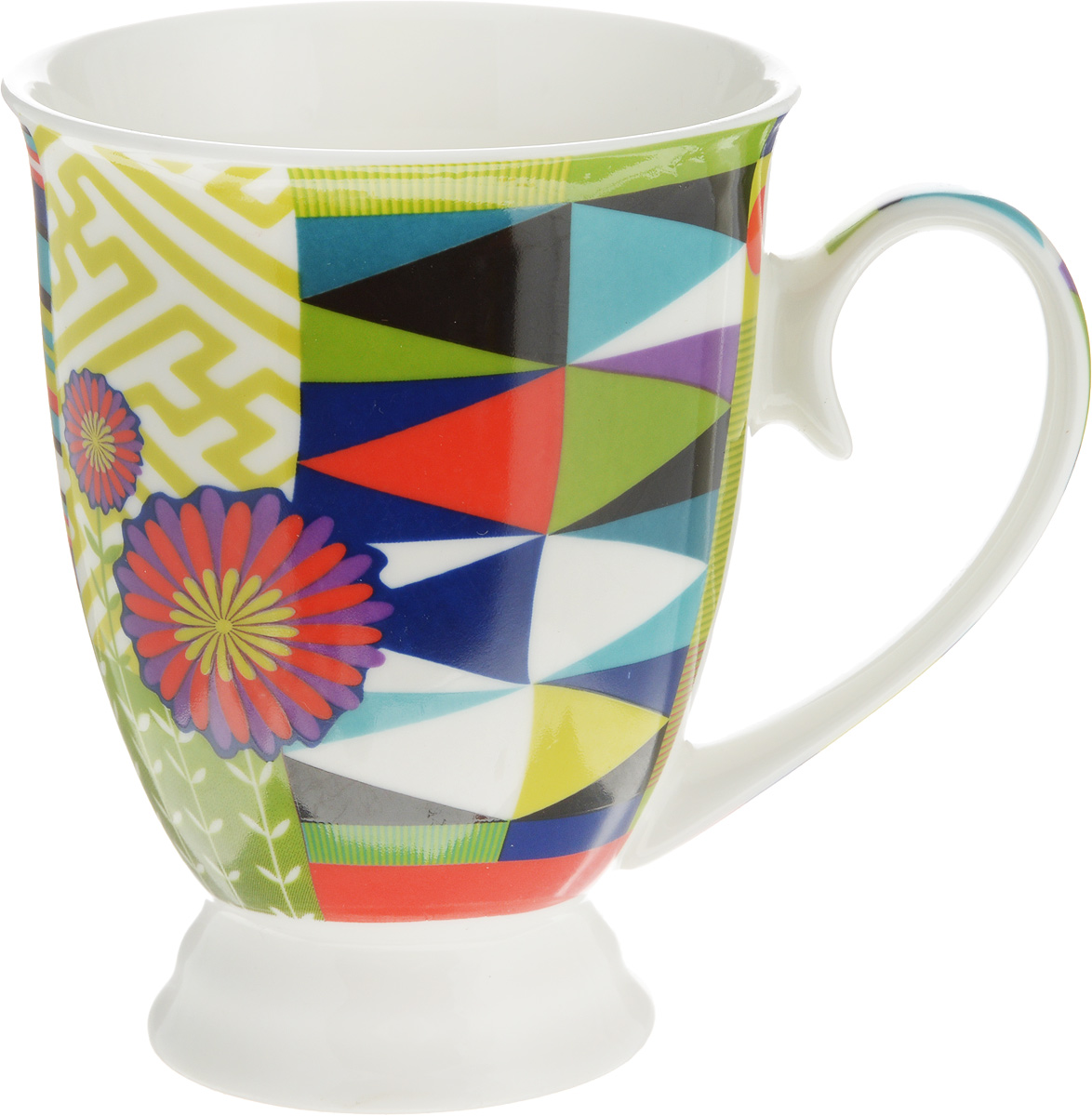 Кружка Lillo Цветочно-ягодный микс, цвет: бирюзовый, зеленый, красный, 250 мл115510Кружка Lillo Цветочно-ягодный микс выполнена из высококачественной керамики с глазурованным покрытием. С внешней стороны изделие декорировано красочным рисунком. Такая кружка станет приятным подарком и согреет вас холодными вечерами. Диаметр (по верхнему краю): 8 см.Высота кружки: 10,5 см.