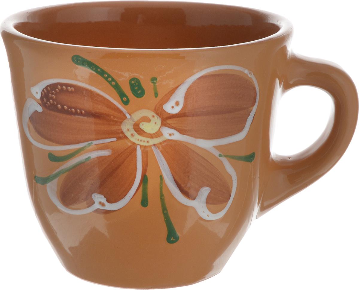 Чашка Борисовская керамика Стандарт, цвет: светло-коричневый, 300 мл115510Удобная чашка Борисовская керамика Стандарт предназначена для повседневного использования. Она выполнена из высококачественной глины и оформлена рисунком. Природные свойства этого материала позволяют долго сохранять температуру напитка, даже, если вы пьете что-то холодное.Диаметр чашки (по верхнему краю): 10 см.Диаметр основания: 6 см.Высота чашки: 8,5 см.