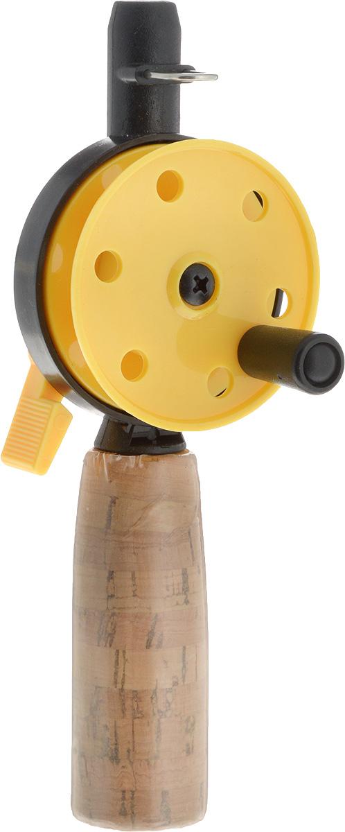 Удочка зимняя Asseri, пробковая ручка, без шестика, цвет: желтый, катушка: 50 ммГризлиЗапасная часть для зимних удочек Asseri подойдет для ловли рыбы. Основа изготовлена из износостойкого пластика, который устойчив к морозам. Такая конструкция будет отлично служить вам долгие годы. Пробка, которой покрыта рукоятка, придает ей устойчивость к влаге и блокирует скольжение в руке. Конструкция пластиковой катушки со стопором предотвращает люфты и вредное трение. Возможность заменять хлысты придает модели еще большую функциональность. Леска в комплект не входит.Диаметр катушки: 5 см.Длина удочки: 15,5 см.