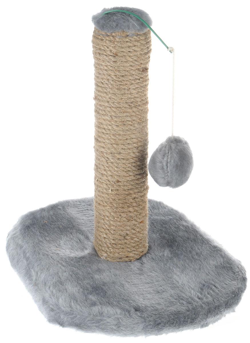 Когтеточка для котят Меридиан, на подставке, цвет: светло-серый, бежевый, 30 х 24 х 35 см0120710Когтеточка Меридиан поможет сохранить мебель и ковры в доме от когтей вашего любимца, стремящегося удовлетворить свою естественную потребность точить когти. Когтеточка изготовлена из ДВП, ДСП, искусственного меха и джута. Товар продуман в мельчайших деталях и, несомненно, понравится вашему котенку. Подвесная игрушка привлечет внимание питомца.Всем кошкам необходимо стачивать когти. Когтеточка - один из самых необходимых аксессуаров для кошки. Для приучения к когтеточке можно натереть ее сухой валерьянкой или кошачьей мятой. Когтеточка поможет вашему любимцу стачивать когти и при этом не портить вашу мебель.