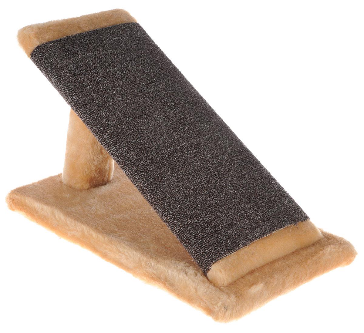 Когтеточка для котят Меридиан Горка, цвет: светло-коричневый, коричневый, 45 х 25 х 25 см12171996Когтеточка Меридиан Горка предназначена для стачивания когтей вашего котенка и предотвращения их врастания. Она выполнена из ДВП, ДСП и искусственного меха. Точатся когти о накладку из ковролина. Когтеточка позволяет сохранить неповрежденными мебель и другие предметы интерьера.