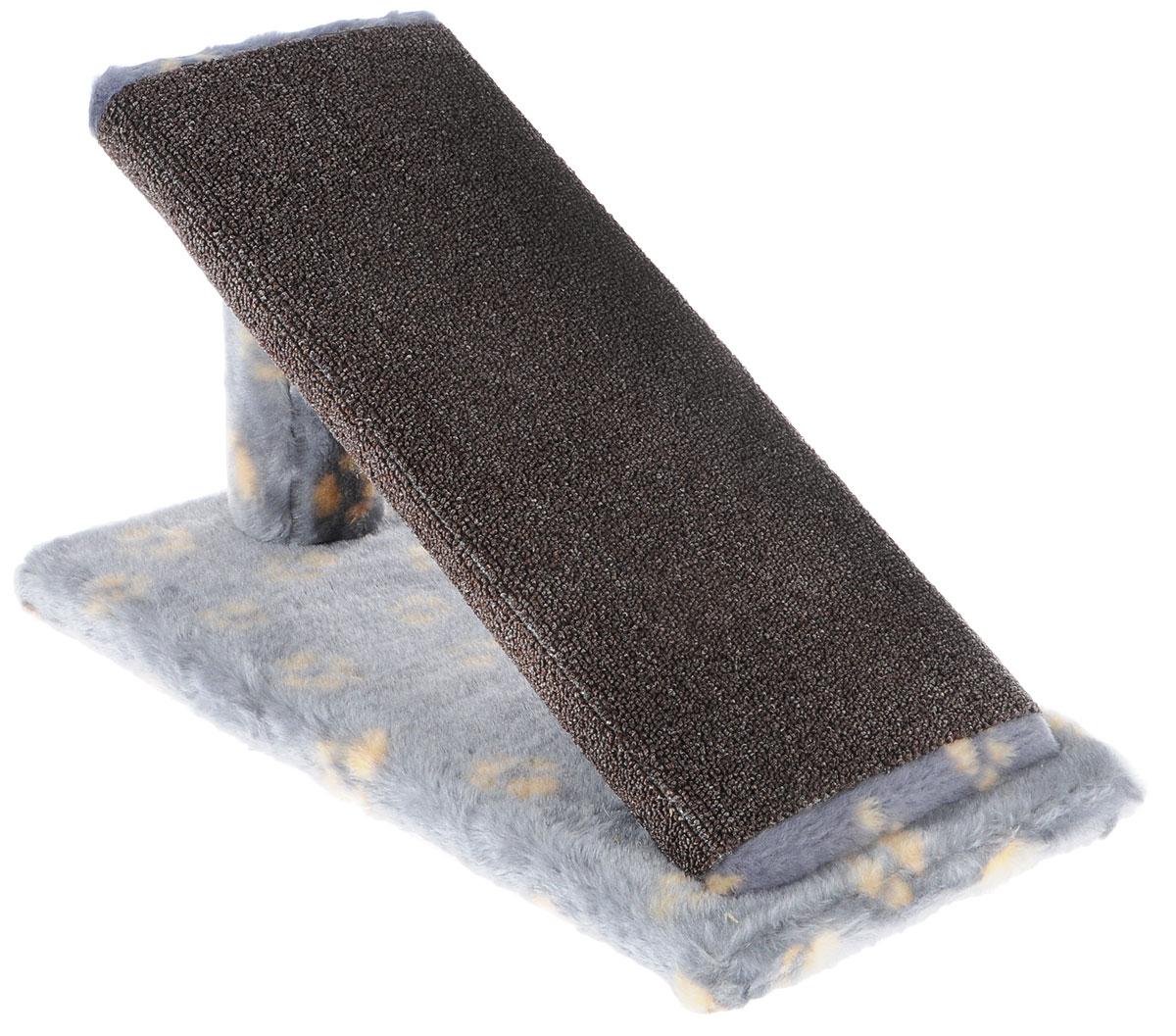 Когтеточка для котят Меридиан Горка, цвет: серый, желтый, коричневый, 45 х 25 х 25 см12171996Когтеточка Меридиан Горка предназначена для стачивания когтей вашего котенка и предотвращения их врастания. Она выполнена из ДВП, ДСП и искусственного меха. Точатся когти о накладку из ковролина. Когтеточка позволяет сохранить неповрежденными мебель и другие предметы интерьера.