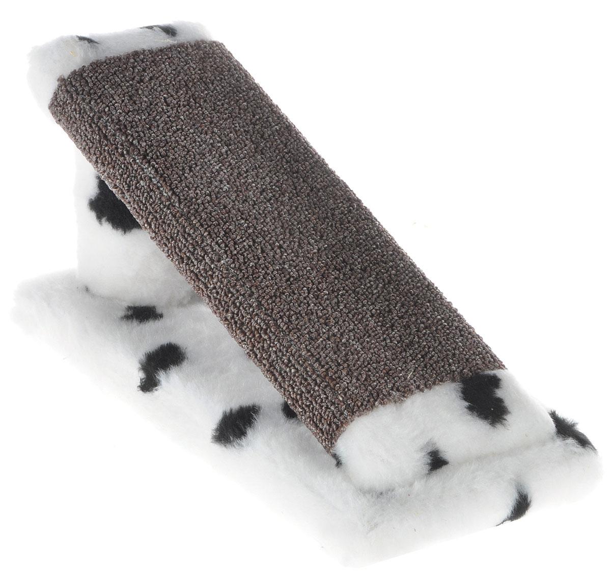 Когтеточка для котят Меридиан Горка, цвет: белый, черный, коричневый, 29 х 14 х 14 см101246Когтеточка Меридиан Горка предназначена для стачивания когтей вашего котенка и предотвращения их врастания. Она выполнена из ДВП, ДСП и искусственного меха. Точатся когти о накладку из ковролина. Когтеточка позволяет сохранить неповрежденными мебель и другие предметы интерьера.