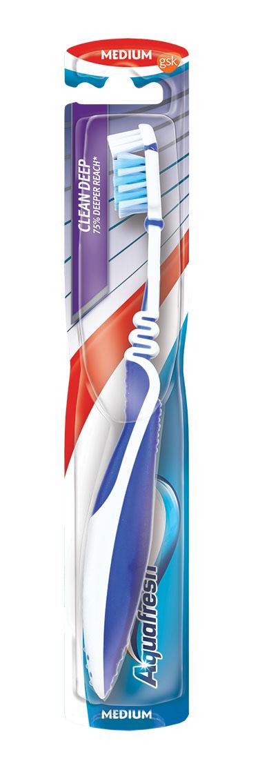 Aquafresh зубная щетка Макс-Актив средняя Clean Deep20021505Тип: зубная щетка средней жесткости. Тип: зубная щетка средней жесткости. Степень жесткости: средняя.Степень жесткости: средняя.•щетка имеет небольшой вес и ручку особой формы, что делает ее очень удобной для применения;•щетка оснащена гибкой головкой, которая принимает форму контура зубов, идеально подстраиваясь под ваши индивидуальные анатомические особенности;•хорошо достает и прочищает заднюю стенку зубов;•ручка и головка щетки гибко соединены между собой, что позволяет значительно уменьшить давление на зубы во время чистки;•ручка и головка щетки гибко соединены между собой, что позволяет значительно уменьшить давление на зубы во время чистки;•ручка и головка щетки гибко соединены между собой, что позволяет значительно уменьшить давление на зубы во время чистки;