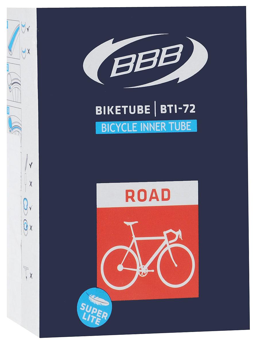 Камера велосипедная BBB, 28, 18, 25C F, V, Super Lite, 60 ммWRA523700Камера BBB изготовлена из долговечного резинового компаунда. Никаких швов, которые могут пропускать воздух. Достаточно большая для защиты от проколов и достаточно небольшая для снижения веса. Велосипедные камеры - обязательный атрибут каждого велосипедиста! Никогда не выезжайте из дома на велосипеде, не взяв с собой запасную велосипедную шину!Диаметр колеса: 28.Допустимый размер сечения покрышки: 18/23.Велониппель (Presta): 60 мм.Толщина стенки: 0,87 мм.